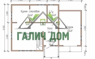 полутороэтажный - 2 (маркер план 1 этажа)