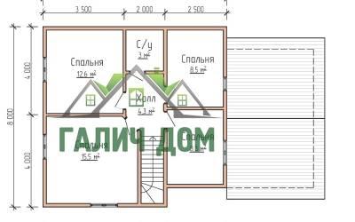 полутороэтажный - 2 (маркер план 2 этажа)