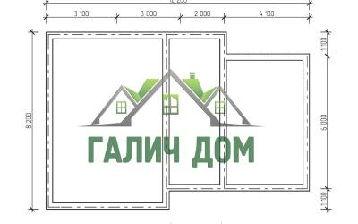 полутороэтажный - 2 (маркер план фундамента)