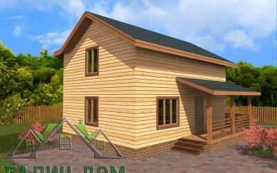 Проект дома из бруса 7х8 полутороэтажный - 14 (маркер 2)