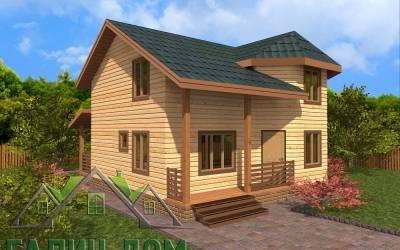 Дачный дом из бруса 7х8 полутороэтажный - 14 (маркер 4)