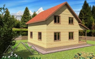 Дачный дом 8х9 полутороэтажный 18 (1 маркер)