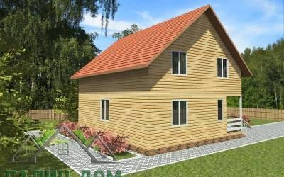 Дачный дом 9х9 полутороэтажный 21(3 маркер)