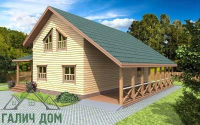 Дом с балконом 12х12
