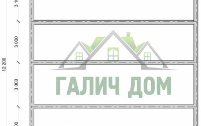 План фундамента дома 12х12