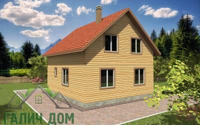 Деревянный дом 8х8полутороэтажный