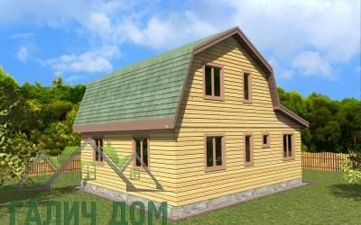 Деревянный дом 7х8 (6) маркер