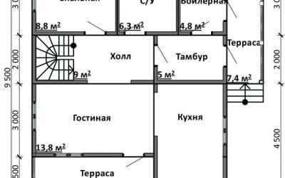 Срочный №6 _ 1. 1-й этаж