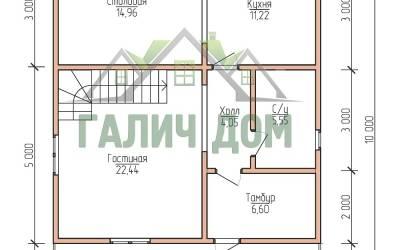 10х7 (план 1 этажа)маркер