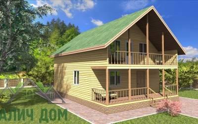 Деревянный дом 7х10(7) маркер