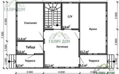 Срочный №18 _ 1. 1-й этаж