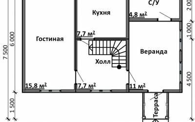 Срочный №19 _ 1. 1-й этаж