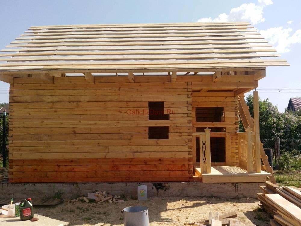 Фотоотчет по строительству дома своими руками6