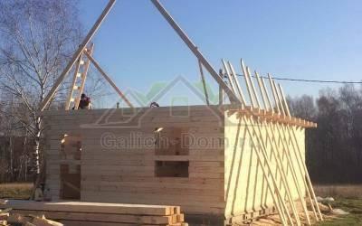 Фото 1 - подготовка к строительству крыши