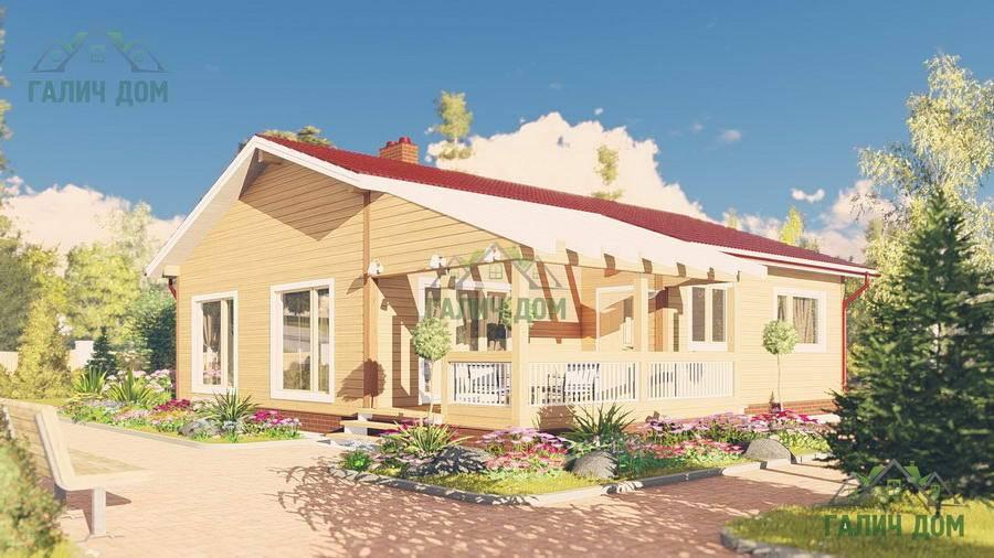 Картинка (1) Одноэтажный дом из бруса 11х13