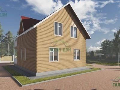 Картинка (3) Проект брусового дома 8х8 (ДБ-94)