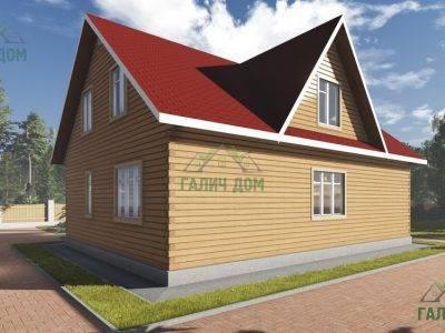 Картинка (2) Дом из бруса 9х12 (ДБ-96)