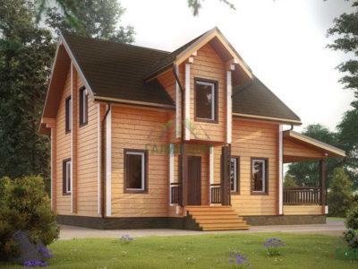 Картинка (4) Проект дома из бруса 6 на 7 с мансардой (ДБ-39)