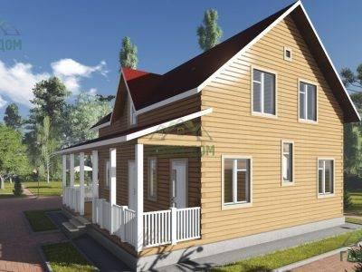 Картинка (2) Брусовой дом 10х10 (ДБ-90)