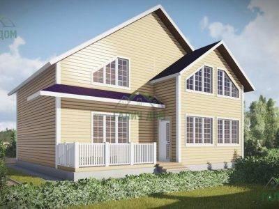 ДБ-54 | Двухэтажный дом из бруса 9 на 10