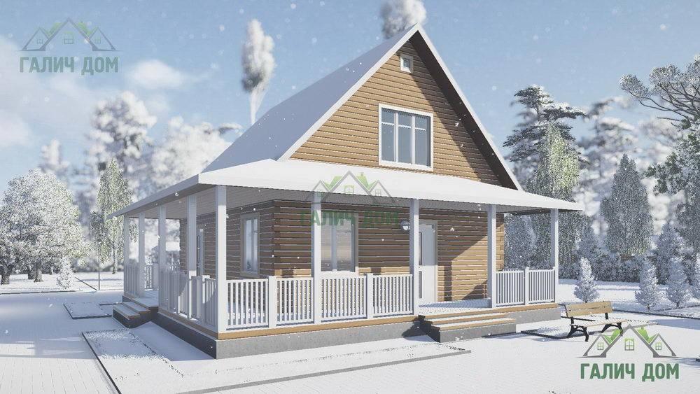 Картинка (1) Дачный дом из бруса 8х9