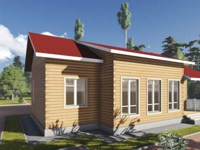 ДБ-93 | Одноэтажный дом из бруса 9 на 12