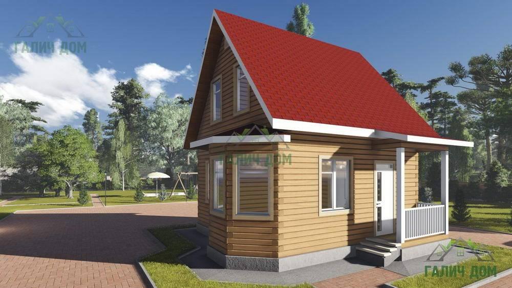 Картинка (1) Брусовой дом 7х7 с мансардой (ДБ-97)
