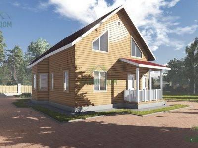 Картинка (2) Дом из бруса 8х11 (ДБ-102)