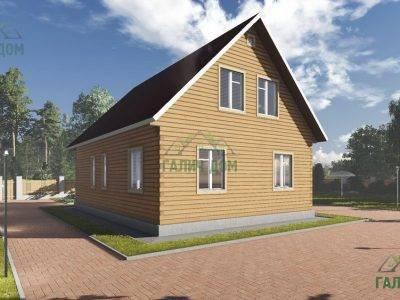 Картинка (3) Проект дома из бруса 8 на 11 с мансардой (ДБ-16)