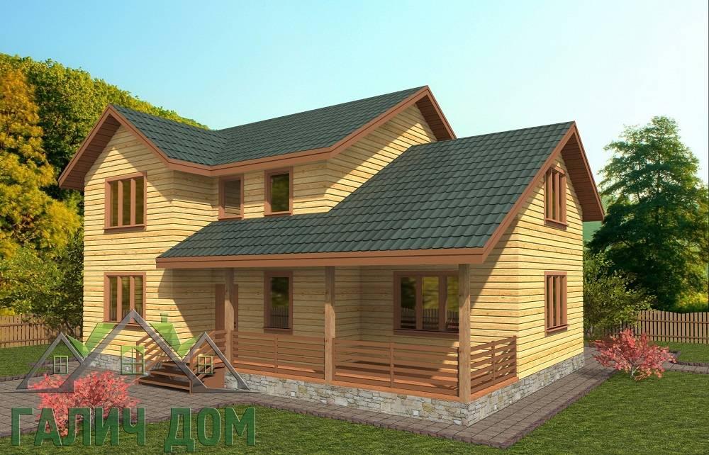 Картинка (1) Двухэтажный дом из бруса 9х12 (ДБ-72)