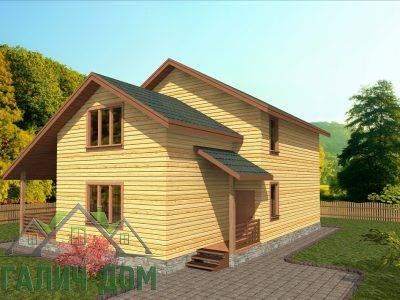 Картинка (2) Двухэтажный дом 9х12 (ДБ-72)