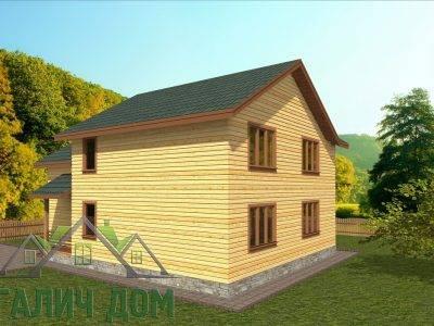 Картинка (3) Проект двухэтажного дома из бруса 9х12 (ДБ-72)