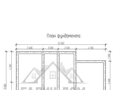 Картинка (7) План фундамента дома 9х12 (ДБ-72)