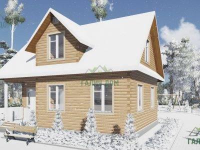 Картинка (2) Дом из бруса с мансардой 7 на 9