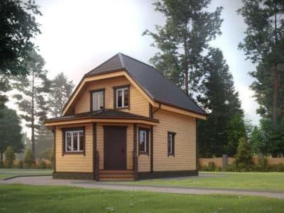 Картинка (3) Проект дома из бруса 9 на 9 с террасой (ДБ-31)