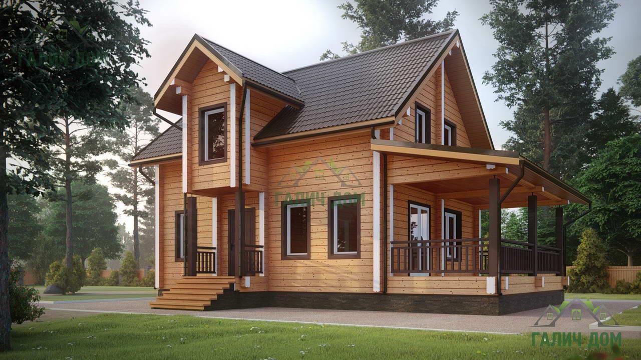 Картинка (1) Дом из бруса 6 на 7 с мансардой (ДБ-39)