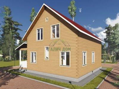 Картинка (3) Проект брусового дома 10х10 (ДБ-90)