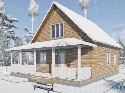 Картинка (2) Дачный дом из бруса 8х9