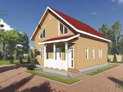 Картинка (3) Проект дома из бруса 8х11 (ДБ-102)