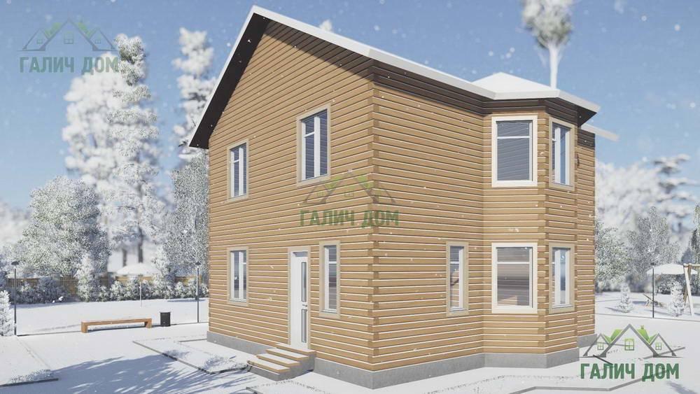 Картинка (1) Проекты двухэтажного загородного дома 9 на 9 (ДБ-108)