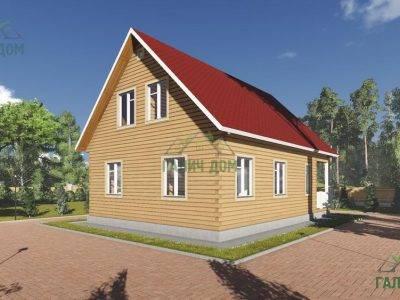 Картинка (4) Проект дома из бруса 8 на 11 (ДБ-16)