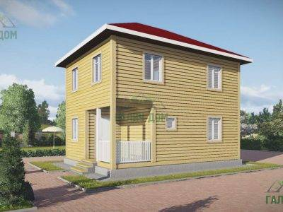 ДБ-154 | Двухэтажный дом из бруса 6х8
