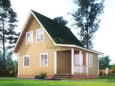 ДБ-165 | Дом из профилированного бруса 6х8