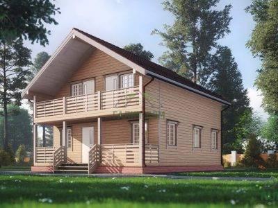 ДБ-170 | Проект дома из бруса 8х8