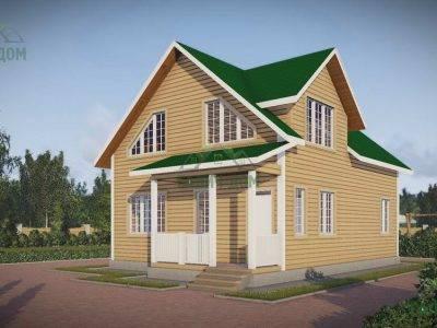 Картинка (2) Дом из бруса 8х11 (ДБ-49)