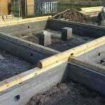 Фундамент для домов из бруса