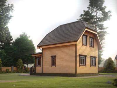 Картинка (4) Проект полутораэтажного дома из бруса 9 на 9 (ДБ-31)