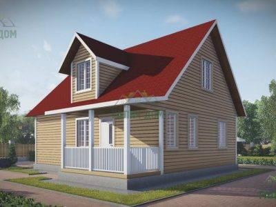 ДБ-109 | Загородный дом из бруса 9 на 10