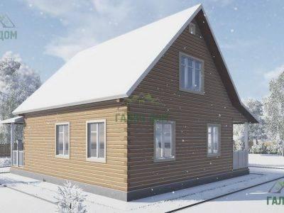 Картинка (3) Проект дачного дома из бруса 8х9