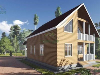 Картинка (4) Дом из бруса 8х11 с балконом (ДБ-102)
